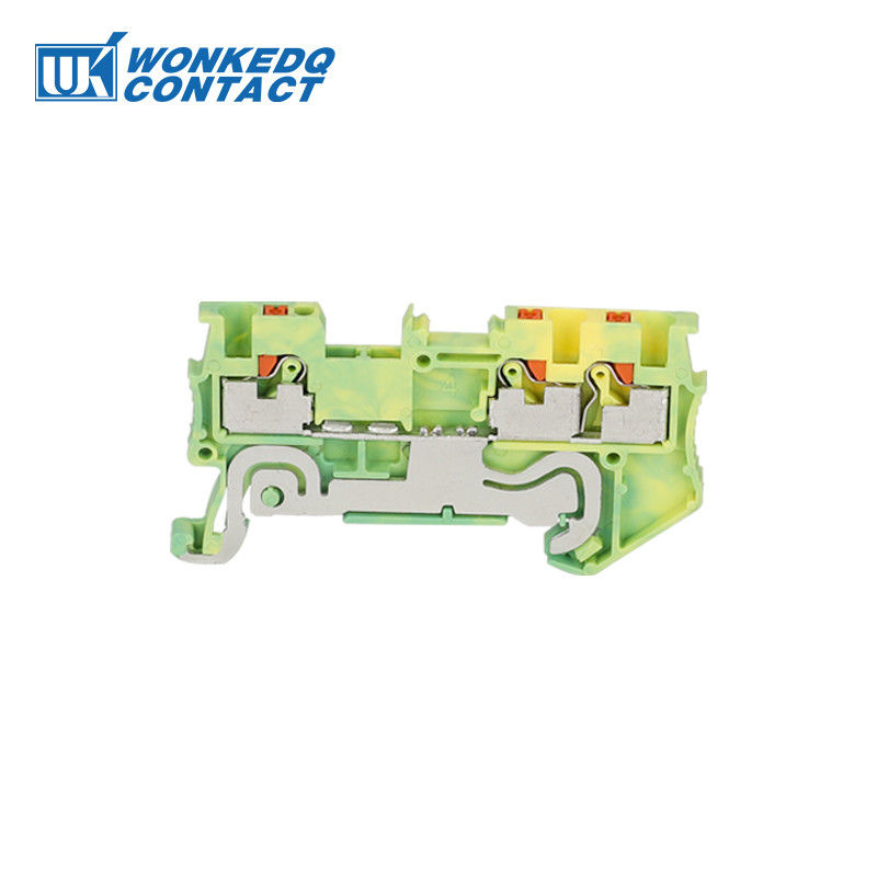 Multi - Conductor Small Wire Terminal Block Yellow and Green Electrical Connector Blocks